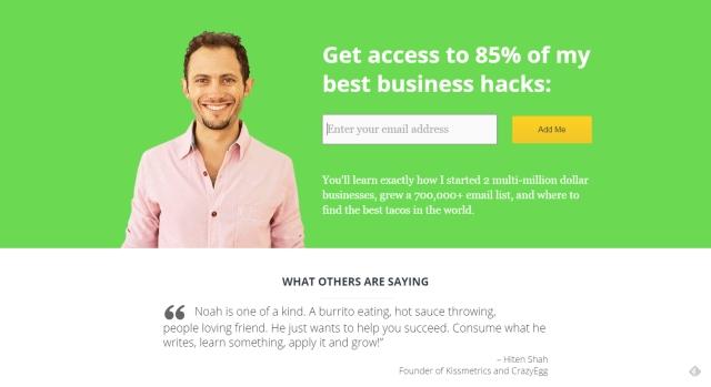 pagina web con contraste